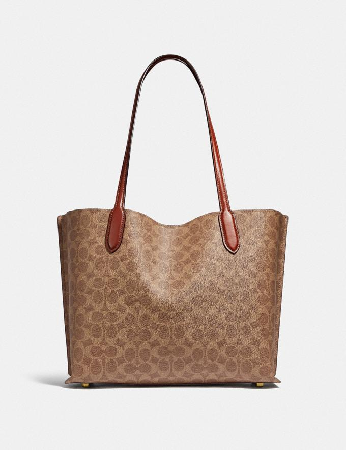 Coach Willow Tote in Signature Canvas Brass/Tan Rust New Women's New Arrivals Bags Alternate View 2
