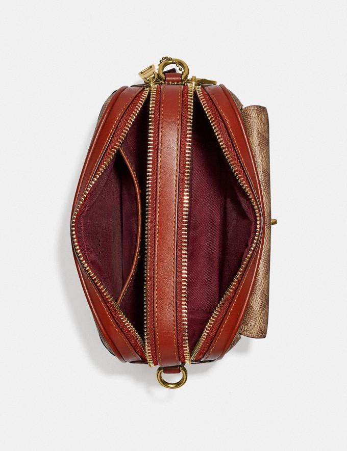 Coach Willow Camera Bag in Signature Canvas Brass/Tan Rust null Alternate View 3