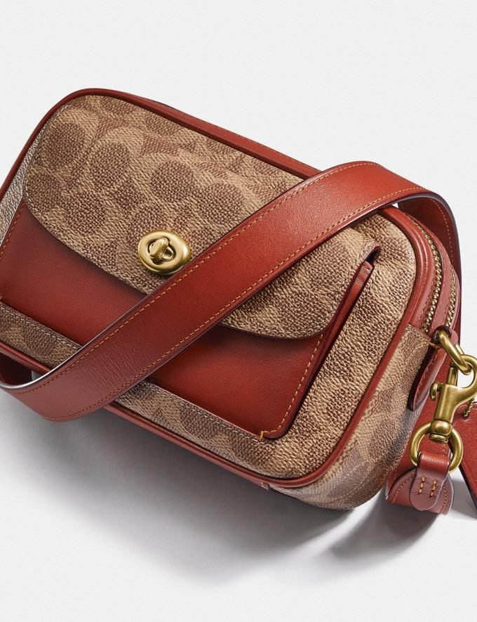 Coach Willow Camera Bag in Signature Canvas Brass/Tan Rust null Alternate View 5