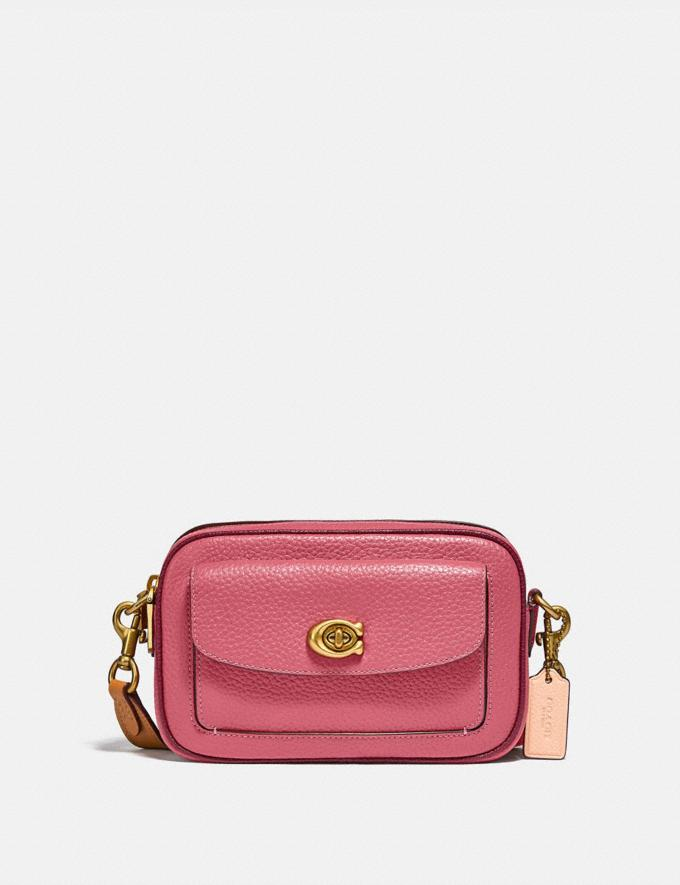 Coach Willow Camera Bag in Colorblock Brass/Rouge Multi New Women's New Arrivals Bags
