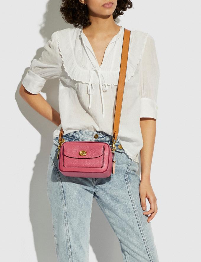 Coach Willow Camera Bag in Colorblock Brass/Rouge Multi New Women's New Arrivals Bags Alternate View 4