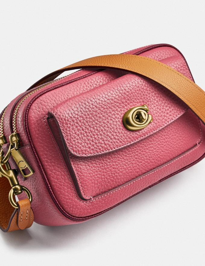 Coach Willow Camera Bag in Colorblock Brass/Rouge Multi New Women's New Arrivals Bags Alternate View 5