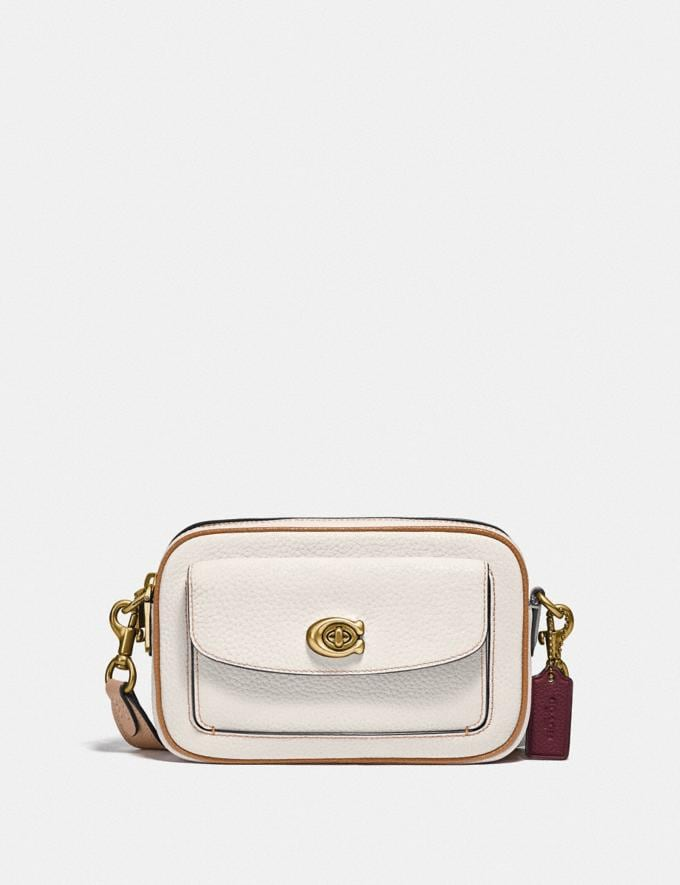 Coach Willow Camera Bag in Colorblock Brass/Chalk Multi null