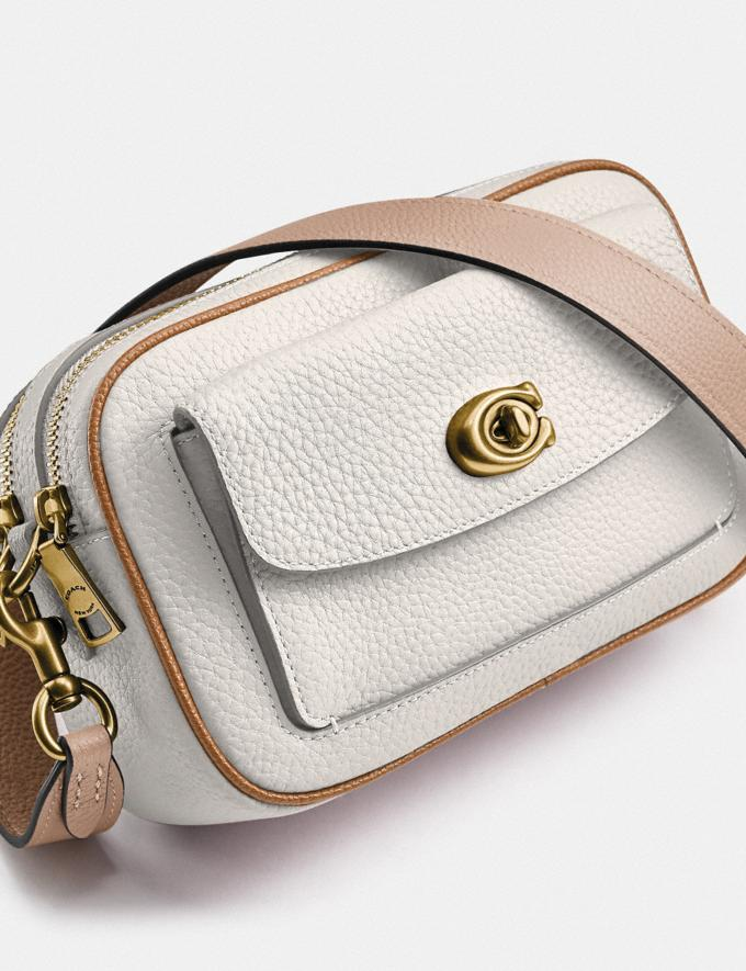 Coach Willow Camera Bag in Colorblock Brass/Chalk Multi null Alternate View 4