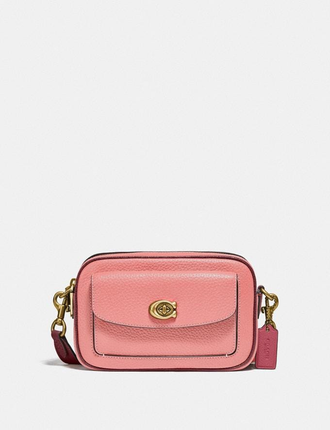 Coach Willow Camera Bag in Colorblock Brass/Candy Pink Multi Translations 5.1 Retail