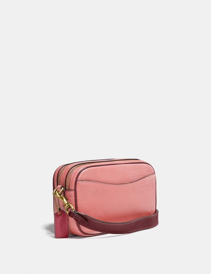 Coach Willow Camera Bag in Colorblock Brass/Candy Pink Multi Translations 5.1 Retail Alternate View 1