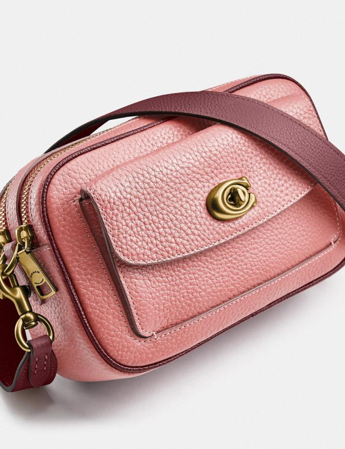 Coach Willow Camera Bag in Colorblock Brass/Candy Pink Multi Translations 5.1 Retail Alternate View 5