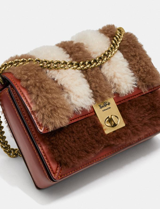Coach Hutton Shoulder Bag 18 With Patchwork Brass/Cocoa Multi Women Bags Shoulder Bags Alternate View 5