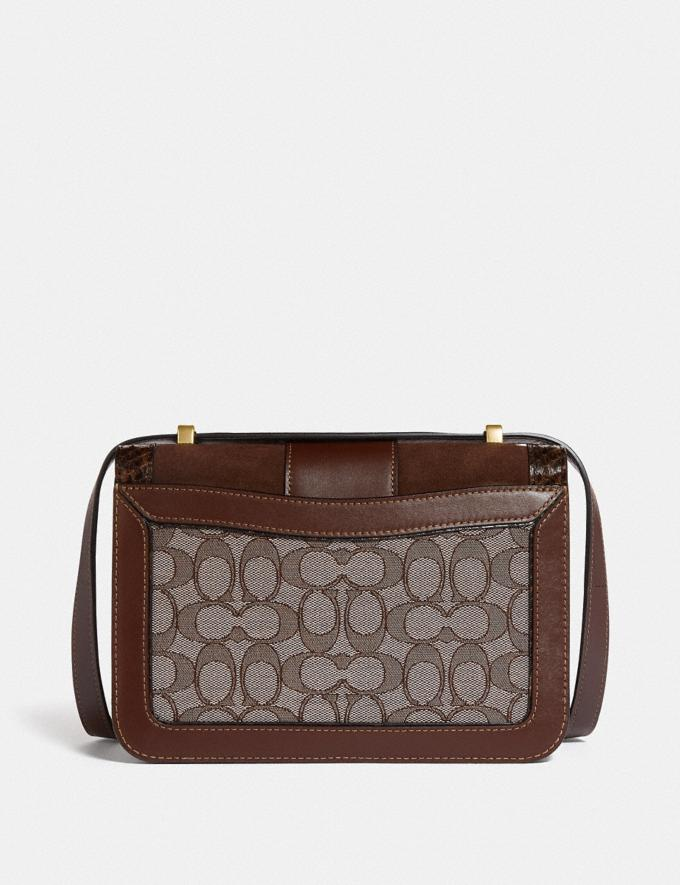Coach Alie Shoulder Bag in Signature Jacquard With Snakeskin Detail B4/Oak Maple Women Bags Shoulder Bags Alternate View 2