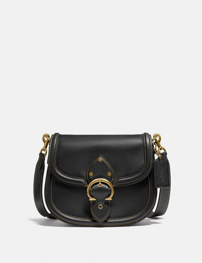 Coach Beat Saddle Bag Brass/Black