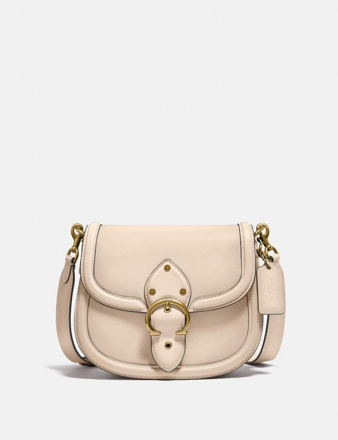 Coach Beat Saddle Bag Brass/Ivory New Women's New Arrivals Bags