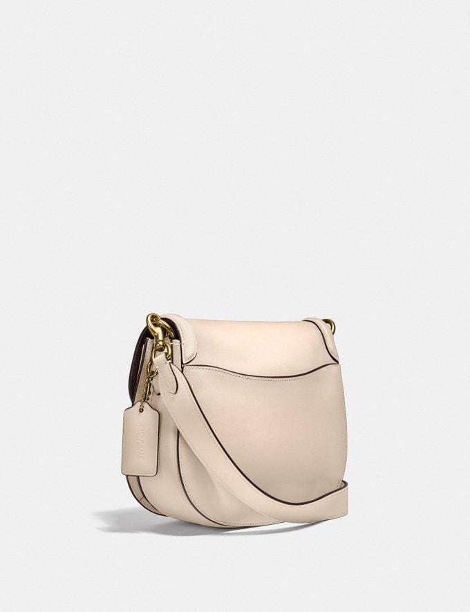 Coach Beat Saddle Bag Brass/Ivory New Women's New Arrivals Bags Alternate View 1