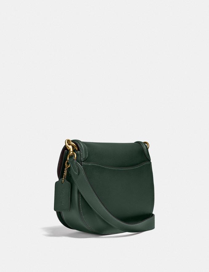 Coach Beat Saddle Bag B4/Amazon Green Translations null Alternate View 1