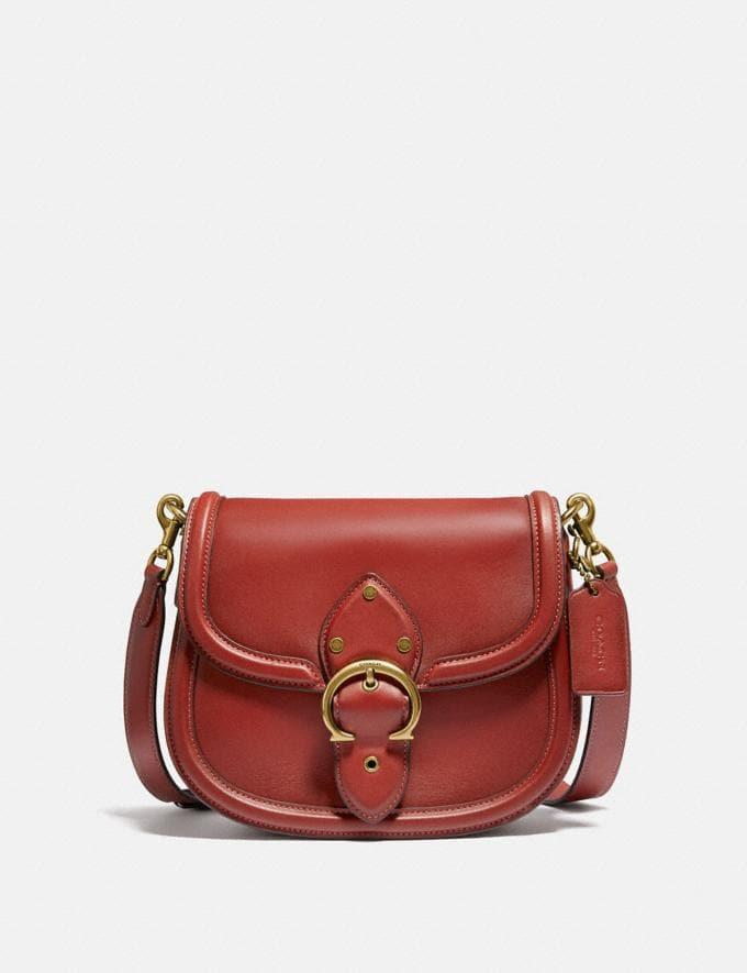 Coach Beat Saddle Tasche Messing/Roter Sand Neu Neuheiten für Damen Taschen
