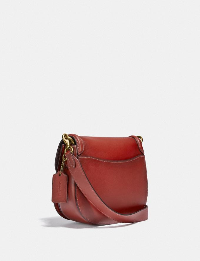 Coach Beat Saddle Bag Brass/Red Sand New Women's New Arrivals Bags Alternate View 1