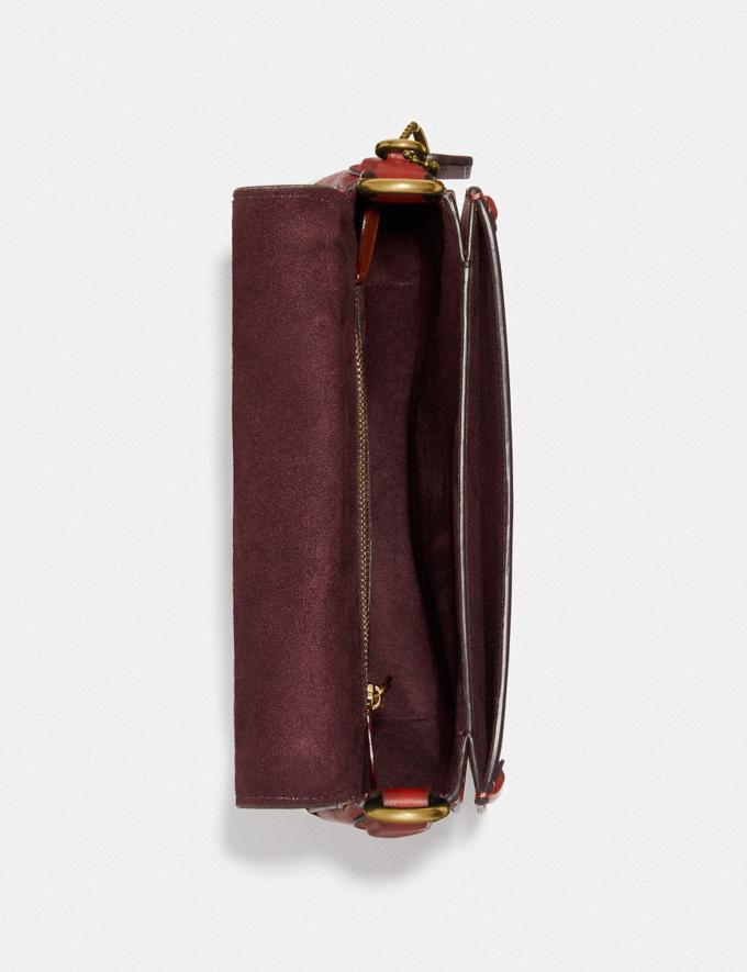 Coach Beat Saddle Tasche Messing/Roter Sand Neu Neuheiten für Damen Taschen Alternative Ansicht 3