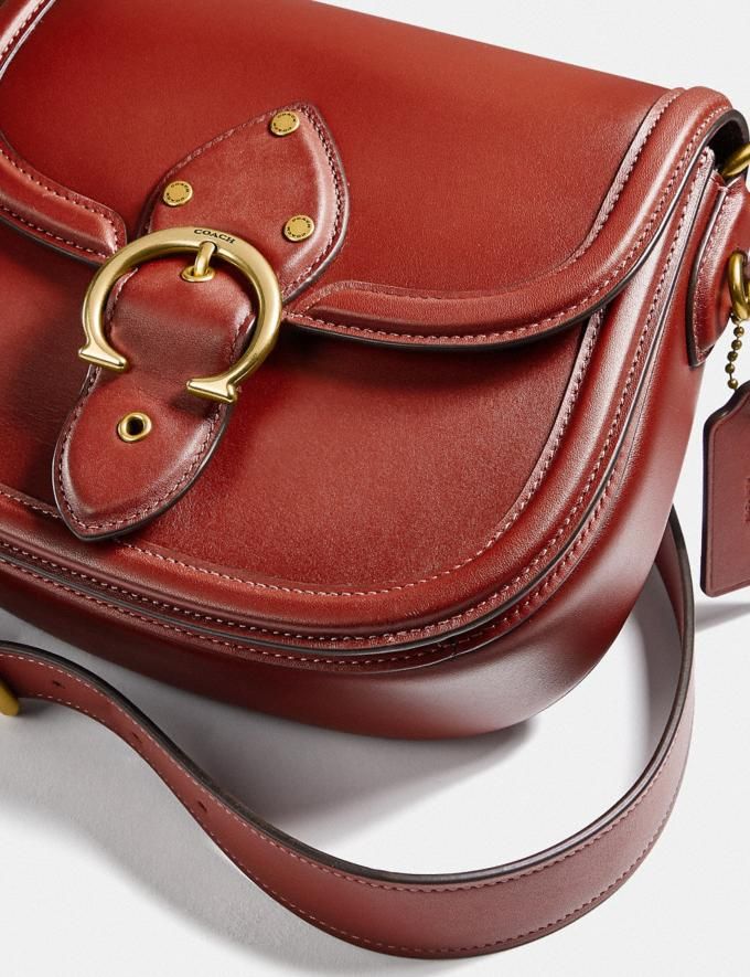 Coach Beat Saddle Bag Brass/Red Sand New Women's New Arrivals Bags Alternate View 5