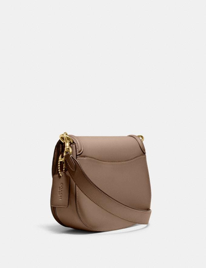 Coach Beat Saddle Bag B4/Taupe Translations null Alternate View 1