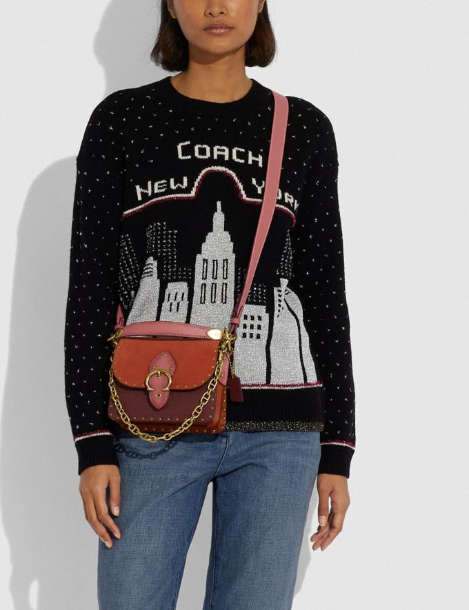 Coach Beat Shoulder Bag 18 in Colorblock B4/Rust Multi New Women's New Arrivals Bags Alternate View 3