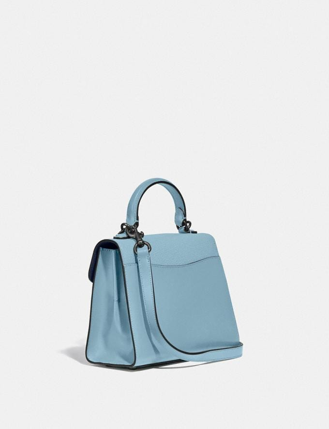 Coach Tabby Top Handle 20 V5/Azure New Women's New Arrivals Bags Alternate View 1