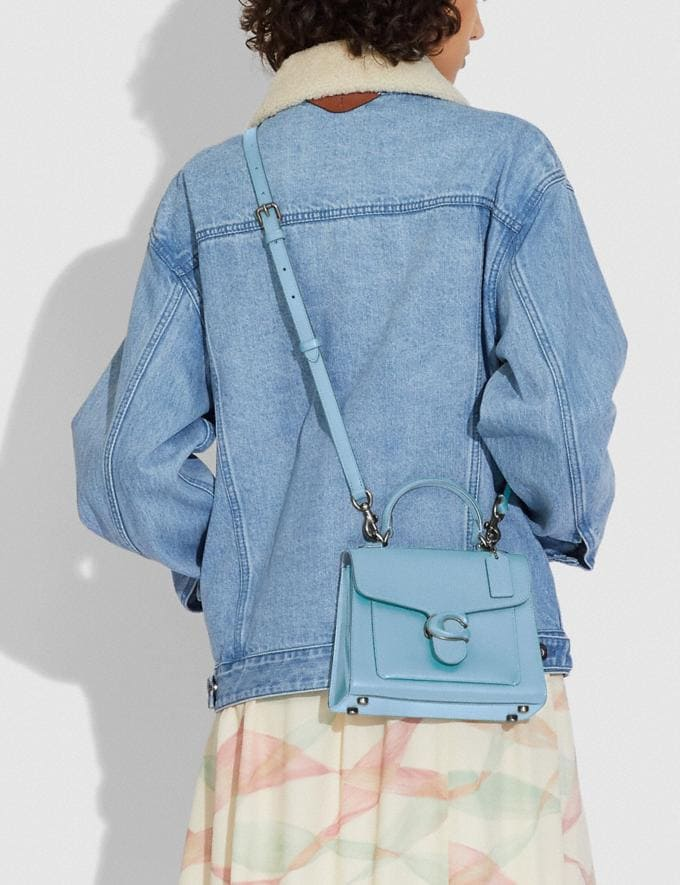 Coach Tabby Top Handle 20 V5/Azure New Women's New Arrivals Bags Alternate View 3
