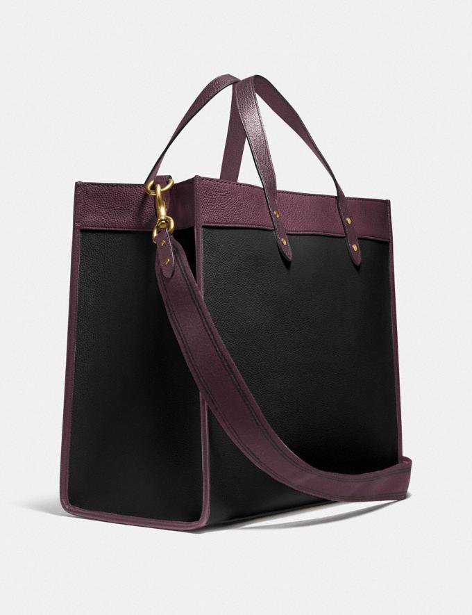 Coach Field Tote 40 in Colorblock With Coach Badge B4/Black Oxblood Multi New Women's New Arrivals Bags Alternate View 1