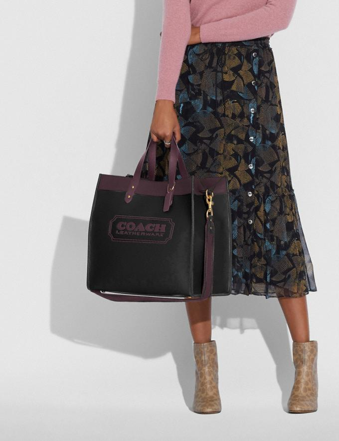 Coach Field Tote 40 in Colorblock With Coach Badge B4/Black Oxblood Multi New Women's New Arrivals Bags Alternate View 3