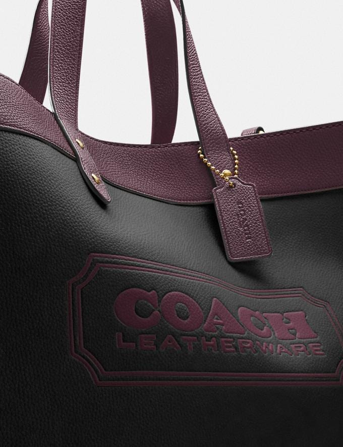 Coach Field Tote 40 in Colorblock With Coach Badge B4/Black Oxblood Multi New Women's New Arrivals Bags Alternate View 4