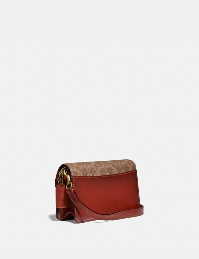 Coach Beat Crossbody Clutch in Signature Canvas With Horse and Carriage Print B4/Tan Truffle Rust Gift For Her Copy of Under €250 Alternate View 1