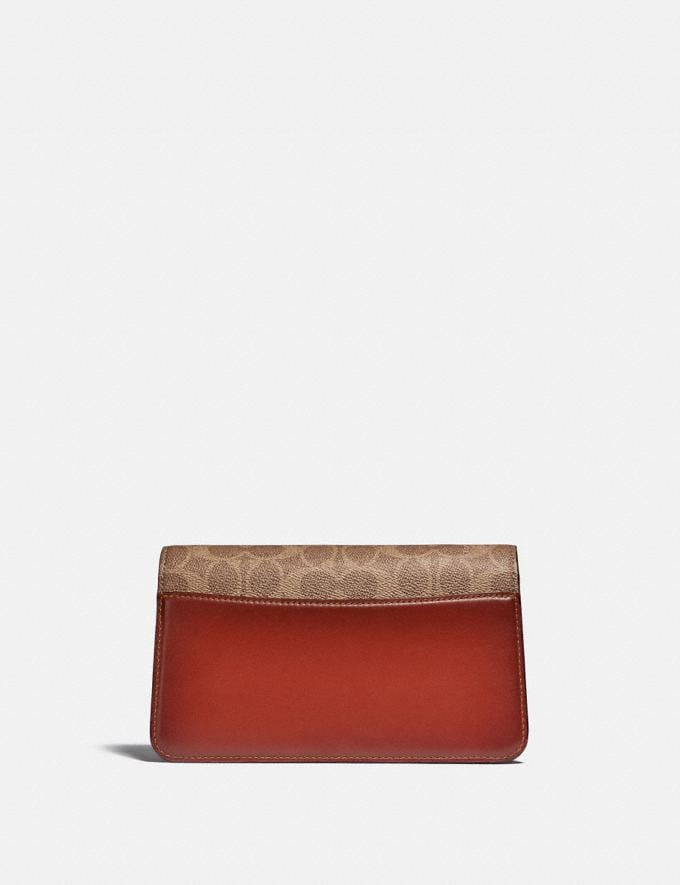 Coach Beat Crossbody Clutch in Signature Canvas With Horse and Carriage Print B4/Tan Truffle Rust Women Bags Clutches Alternate View 2