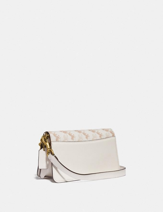 Coach Beat Crossbody Clutch in Signature Canvas With Horse and Carriage Print Brass/Chalk Tan Taupe Women Bags Clutches Alternate View 1