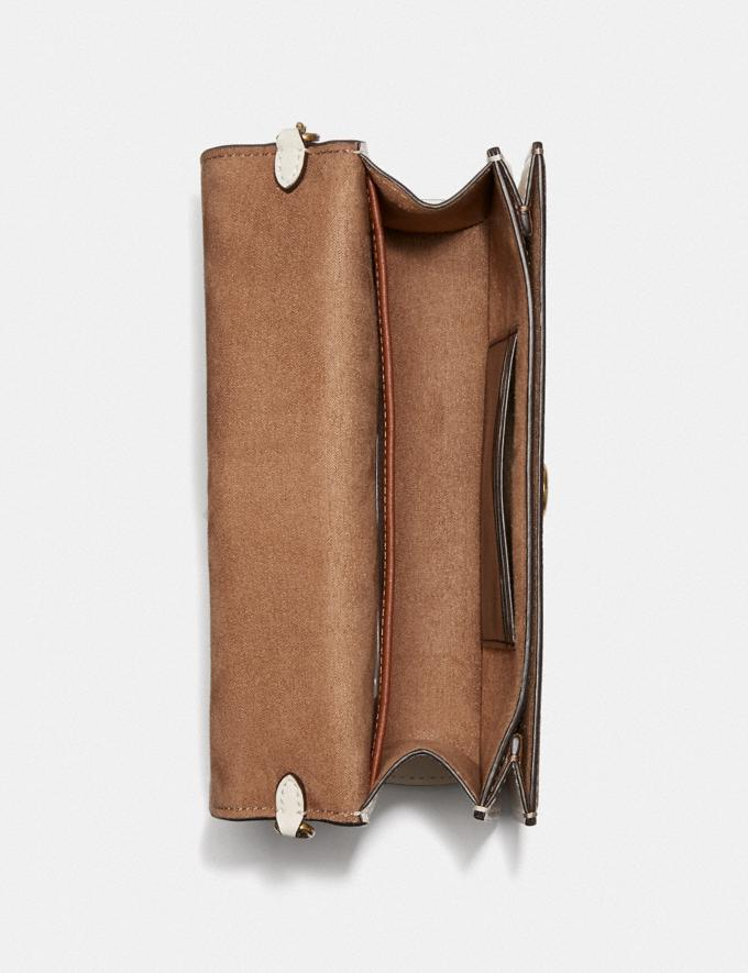 Coach Beat Crossbody Clutch in Signature Canvas With Horse and Carriage Print Brass/Chalk Tan Taupe Women Bags Clutches Alternate View 2