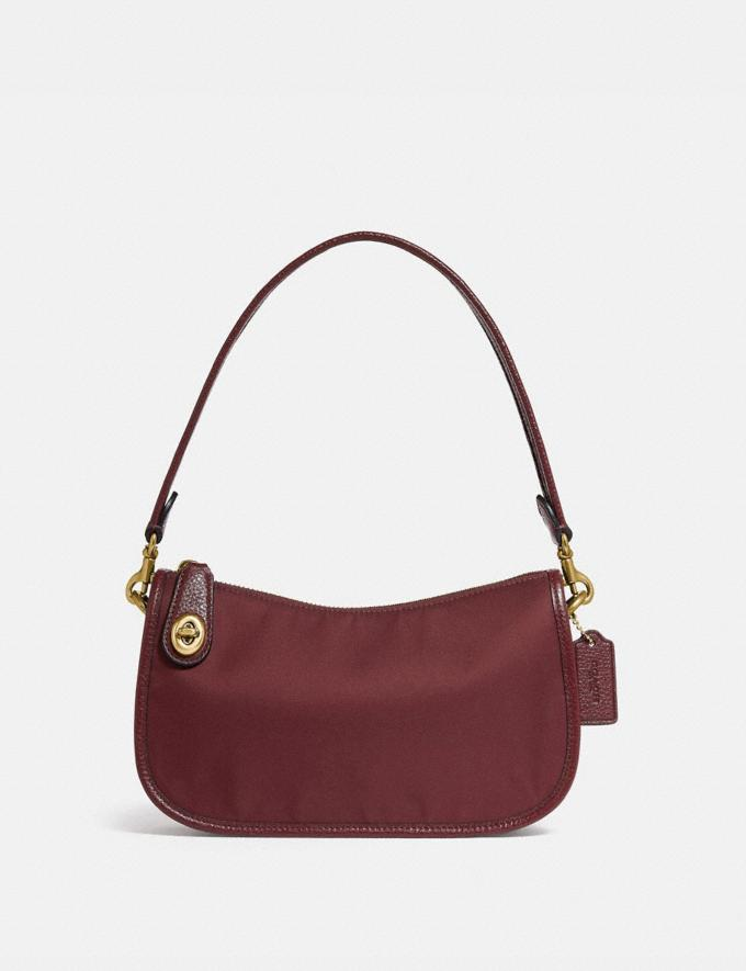 Coach Swinger Bag Brass/Wine New Women's New Arrivals Bags