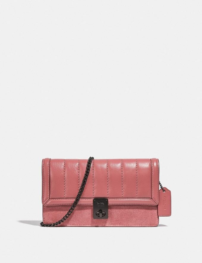 Coach Hutton Clutch Mit Steppung V5/Vintage-Rosa Damen Taschen Clutches