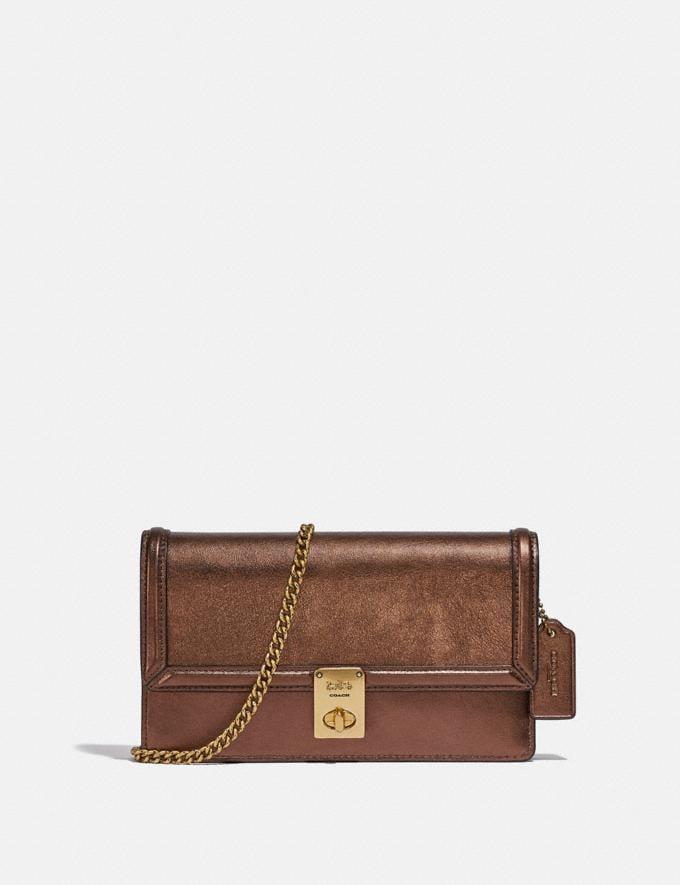 Coach Hutton Clutch B4/Bronze Women Bags Clutches
