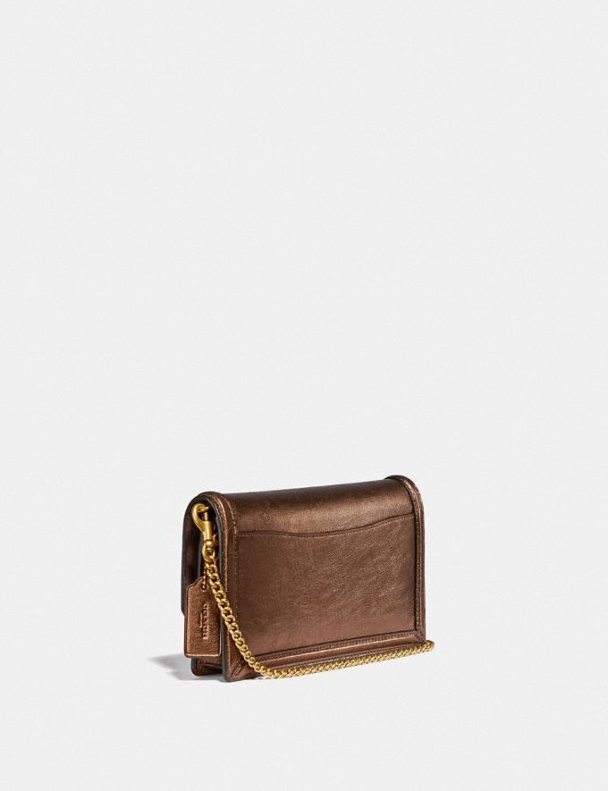 Coach Hutton Clutch Messing/Bronze Damen Taschen Clutches Alternative Ansicht 1