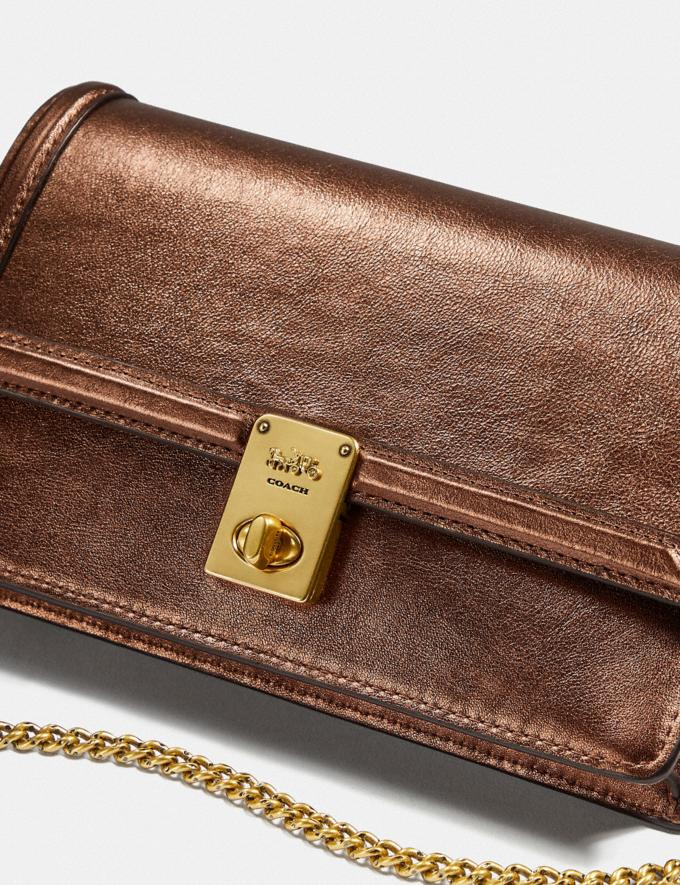 Coach Hutton Clutch Messing/Bronze Damen Taschen Clutches Alternative Ansicht 4