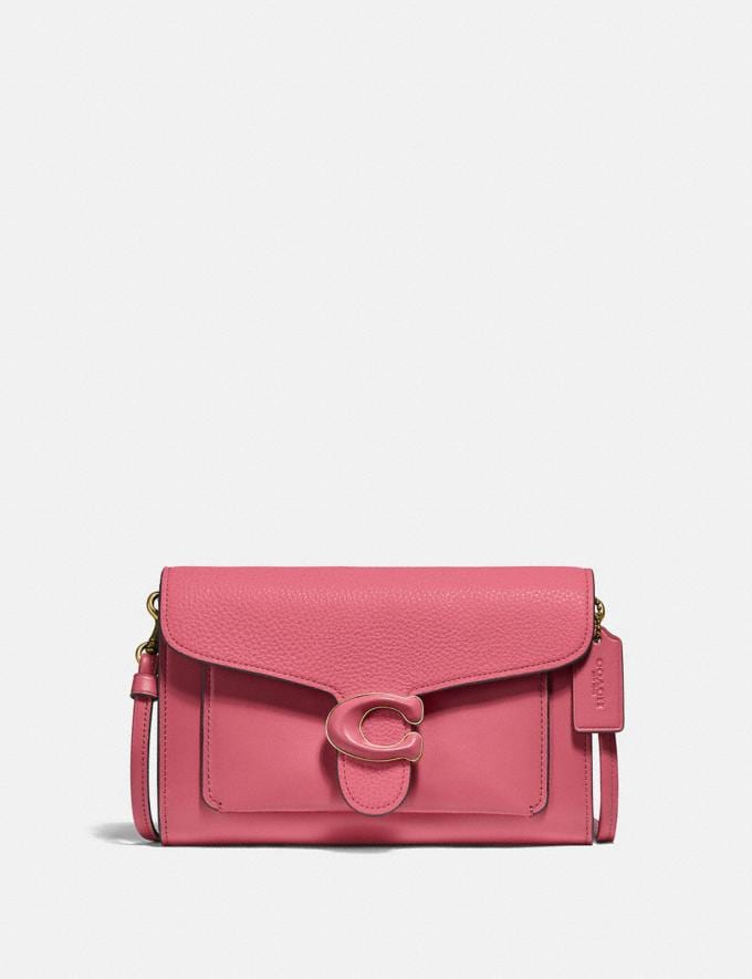 Coach Tabby Strap Clutch Brass/Rouge New Women's New Arrivals Small Leather Goods