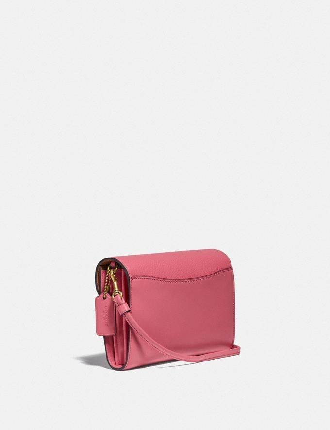 Coach Tabby Strap Clutch Brass/Rouge New Women's New Arrivals Small Leather Goods Alternate View 1