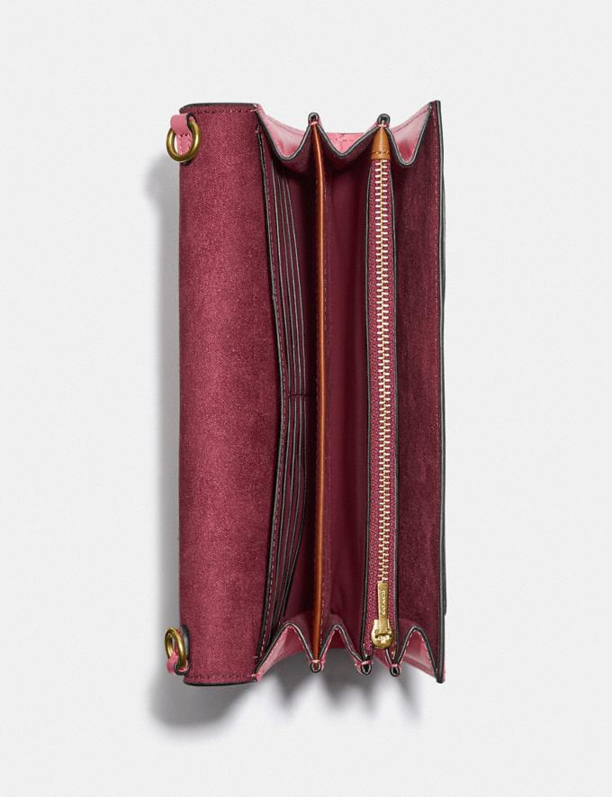 Coach Tabby Strap Clutch Brass/Rouge New Women's New Arrivals Small Leather Goods Alternate View 2