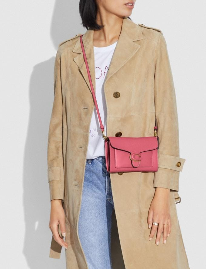 Coach Tabby Strap Clutch Brass/Rouge New Women's New Arrivals Small Leather Goods Alternate View 3