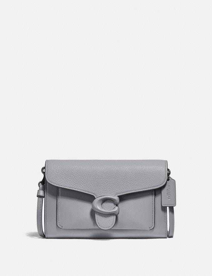Coach Tabby Strap Clutch Pewter/Granite New Women's New Arrivals Small Leather Goods