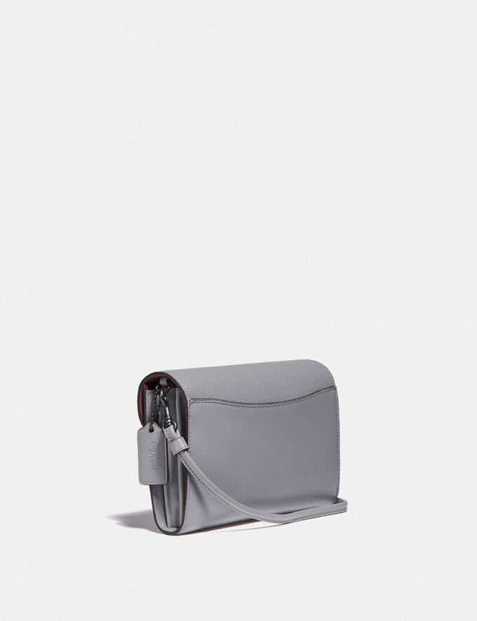 Coach Tabby Strap Clutch Pewter/Granite New Women's New Arrivals Small Leather Goods Alternate View 1