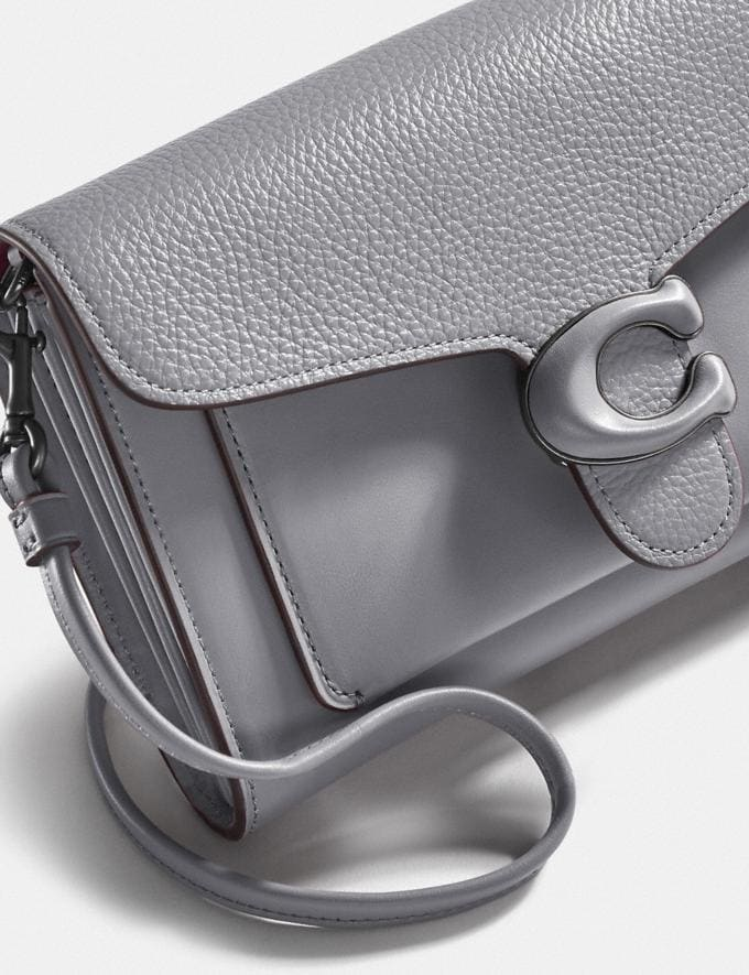 Coach Tabby Strap Clutch Pewter/Granite New Women's New Arrivals Small Leather Goods Alternate View 4