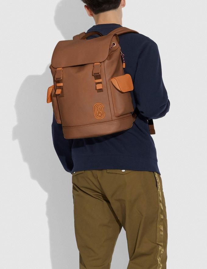 Coach Rivington Backpack Black Copper/Dark Saddle/Vintage Ginger Cyber Monday For Him Cyber Monday Sale Alternate View 3