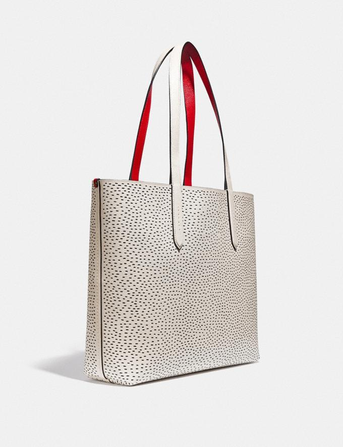 Coach Disney Mickey Mouse X Keith Haring Highline Tote Brass/Chalk New Featured Disney x Keith Haring Alternate View 1