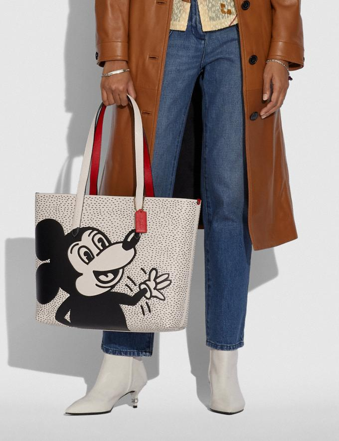 Coach Disney Mickey Mouse X Keith Haring Highline Tote Brass/Chalk New Featured Disney x Keith Haring Alternate View 3