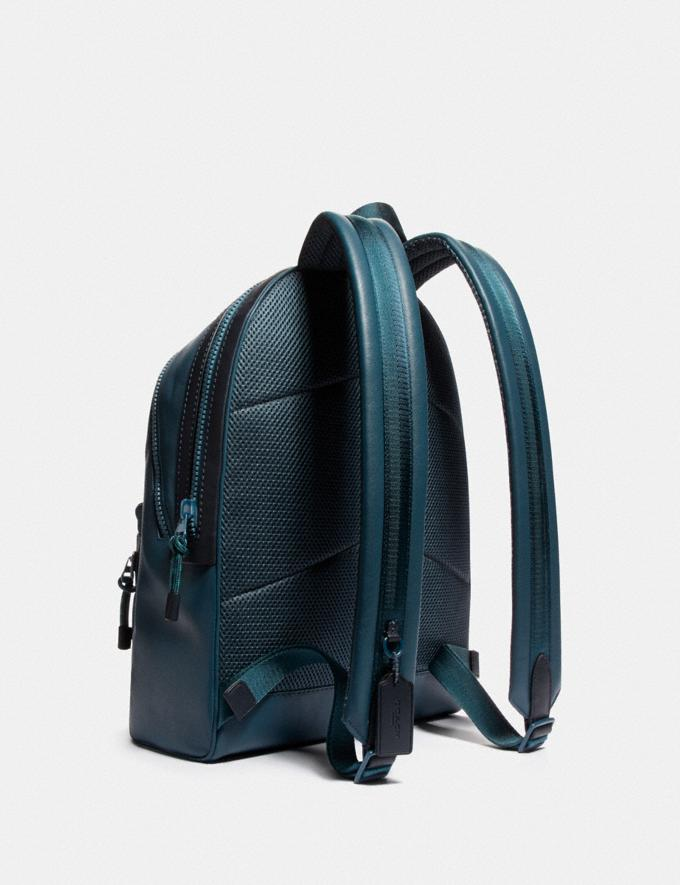 Coach Academy Backpack Ji/Sea Blue/Midnight Navy Men Bags Backpacks Alternate View 1