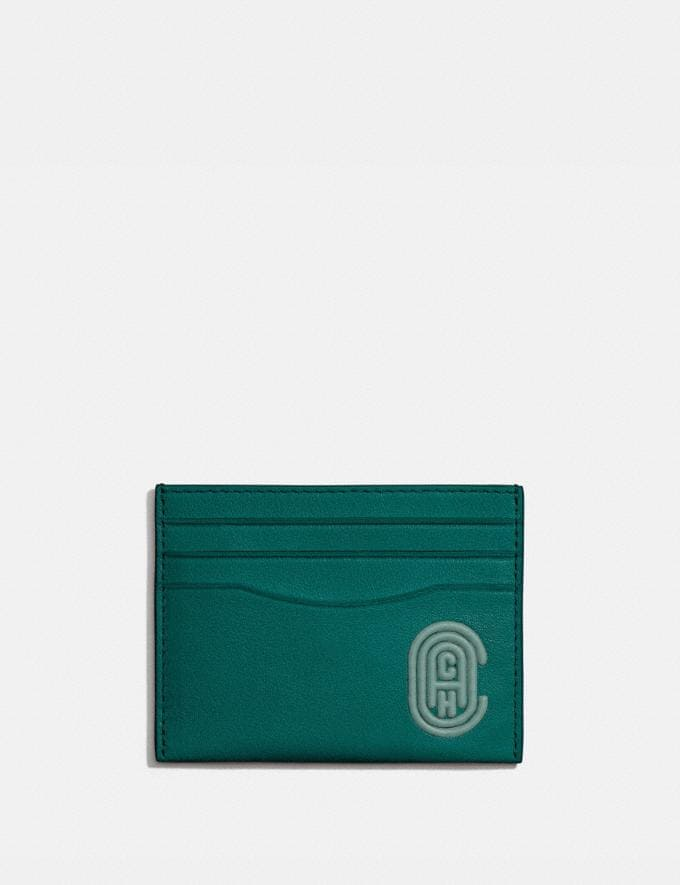 Coach Card Case With Coach Patch Spruce Men Wallets Card Cases