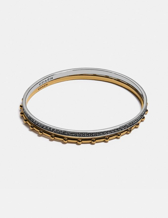 Coach Pegged and Pave Bangle Set Gold/Silver null